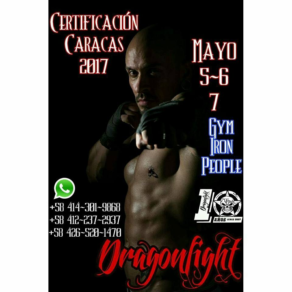 Certificación Dragon Fight Caracas Venezuela
